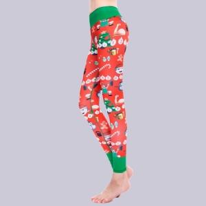 Christmas Snowflake Yoga Leggings